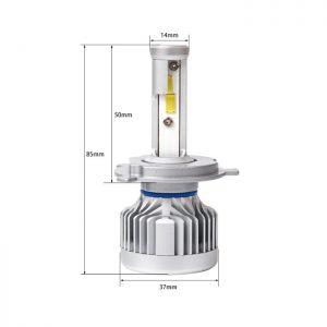LED H4 N3 Citizen Professional Lighting - Оригинална LED система с Японско качество!  LED N3 Citizen Professional Lighting са Лед крушки от ново поколение за фарове с изключително качествена изработка и мощно осветяване. N3 серията има вградениCAMBUS модули, които със сигурност не дават грешките на бордовите компютри даже и на коли 2020 година! Крушката е изработена от Висококачествен Алуминии - Aviation Aluminum 6063 с Tитаниево покриетие, вентилаторно охлаждане и изключително качество на изработка! Готови за директен монтаж на автомобили, камиони, автобуси, мотори и селскостопанска техника без преправяне на инсталацията. Крушките са с CANBUS технология и не дават грешки на бордовите компютри. Директно се свързват към оригиналната букса, без допълнителни кабели, без баласти (запалки). Светлината от леда е много по-плътна, ярка, няма петна, по-дълъг обсег, няма го това забавяне,загряване и заслепяване както при ксенона!Имат мигновен старт. Една крушка LED 30W се равняват на над 100W ксенон! Сертификати за качество: RoHS, BCTC-14042020, IP67! Технически спецификации на Автомобилен LED Комплект N3 Citizen Professional Lighting H7 ТипLEDлампи:N3 Citizen Professional Lighting H4 LED 60W/10 000lm Предназначение: За фарове Употреба:Двойна светлина - Къси и дълги в една крушка Материал: Алуминий 6063, Титаниево покритие Чип:COB, разработен вUSA - 4 чипа Волтаж:Работен диапазон от 12Vдо 32V! Мощност:60W (2x30W) Светлина: Студено бяла Тегло (кг): 0.940 Цвят: 6000К (студено бяла) Ъгъл на светене: 360*/градуса/ Излъчвана светлина /Светлинен Поток/: 2 x 5000LM = 10 000LM Работно напрежение:DC9V-32V Работна температура:-40◦C~ +80◦c Клас на защита:IP 65 Живот: до 120 000 часа Вид охлаждане: Вентилатор клас А++(японски) Производител:P.R.C Сертификати: CE, RoHS, IP65, Водоустойчиви! Комплект: 2 бр. Модел: N3 Citizen Professional Lighting H7 +300% Комплект иновативниLED крушки за фарове H7 - 6000k. LED крушките са с (chip-on-board) диод от ново поколение, монтиран върху алуминиев ра