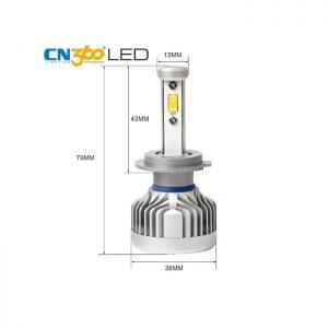 LED N3 H7 Citizen Professional Lighting - Оригинална LED система с Японско качество!  LED N3 H7 Citizen Professional Lighting са LED крушки от ново поколение за фарове с изключително качествена изработка и мощно осветяване. LED крушките са с (chip-on-board) диод от ново поколение, монтиран върху алуминиев радиатор с вентилатор за по-добро охлаждане. Това води до по-дълъг живот на крушките,тъй като факторът, който скъсява жизнения цикъл на диода е високата температура. Създават светлинен поток с над 300% по-ярка светлина, спрямо стандартните халогенни крушки и са подходящи за всички фарове с рефлектори. N3 серията на Citizen имат вградениCAMBUS технология, които със сигурност няма да дадат грешка на бордовите компютри даже и на коли 2020 година! Крушката е изработена от Висококачествен Алуминии - Aviation Aluminum 6063 с Tитаниево покриетие, вентилаторно охлаждане и изключително качество на изработка! Готови за директен монтаж на автомобили, камиони, автобуси, мотори и селскостопанска техника без преправяне на инсталацията.Директно се свързват към оригиналната букса, без допълнителни кабели, без баласти (запалки). Светлината от леда е много по-плътна, ярка, няма петна, по-дълъг обсег, няма го това забавяне, загряване и заслепяване както при ксенона!Имат мигновен старт. Една крушка LED 30W се равняват на над 100W ксенон! Сертификати за качество: RoHS, BCTC-14042020, IP67! Технически спецификации на Автомобилен LED Комплект N3 Citizen Professional Lighting H7 ТипLEDлампи:N3 Citizen Professional Lighting H7 LED 60W/10 000lm Над 300% по-ярка светлина! Предназначение: За фарове Употреба:За къси/дълги светлини Подходящи за лупа: ДА Подходящи за рефлектор: ДА Материал: Алуминий 6063, Титаниево покритие Чип:COB, разработен вUSA - 4 чипа Волтаж:Работен диапазон от 12Vдо 32V! Мощност:60W (2x30W) Светлина: Студено бяла Тегло (кг): 0.940kg Цвят: 6000К (студено бяла) Ъгъл на светене: 360*/градуса/ Излъчвана светлина /Светлинен Поток/: 2 x 5000LM = 10 000LM Работно напрежение:DC9V