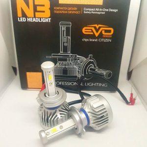 LED N3 Citizen Professional Lighting са Лед крушки от ново поколение за фарове с изключително качествена изработка и мощно осветяване. N3 серията има вградениCAMBUS модули, които със сигурност не дават грешките на бордовите компютри даже и на коли 2018 година! Крушката е изработена от Висококачествен Алуминии - Aviation Aluminum 6063 с Tитаниево покриетие, вентилаторно охлаждане и изключително качество на изработка! Готови за директен монтаж на автомобили, камиони, автобуси, мотори и селскостопанска техника без преправяне на инсталацията. Крушките са с CANBUS технология и не дават грешки на бордовите компютри. Директно се свързват към оригиналната букса, без допълнителни кабели, без баласти (запалки). Светлината от леда е много по-плътна, ярка, няма петна, по-дълъг обсег, няма го това забавяне,загряване и заслепяване както при ксенона!Имат мигновен старт. Една крушка LED 88 W се равняват на над 100 W ксенон! Сертификати за качество: RoHS, BCTC-14042020, IP67!