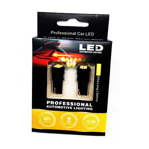 Комплект крушки за габарит или плафон - Т10 Professional Automotive Lighting 300% BRIGHTNESS + CAMBUS (Копие)