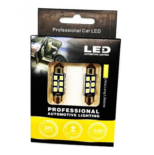 LED Крушка C5W Professional Automotive Lighting 300% BRIGHTNESS + CAMBUS, 36мм, 6000K, 12/24V, Студено бяла