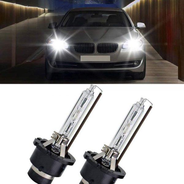 Модел #1: Xenon Super Vision +60% +50m D2S, D2R, D2C Сертификат за качество: E4 ECER99 от 2020г! Последните модели на Мерцедес, БМВ и Ауди – излизат с оригинални ксенонови крушки покриващи точно този стандарт! Висока яркост и ниска консумация на енергия. Те са по-близо до естествената дневна светлина по цвят и осветяват пътя ви по-ефективно. Крушките са с 300% по-ярки от халогенните лампи. Дълъг експлоатационен живот: 5 пъти по-дълъг от халогенните лампи. Подходящ за мотоциклети и автомобили. Висококачествена изработка. Тип: D2S Мощност: 35W. Цветна температура: 6000К. Светлинен поток: 6000K 2600lm. Работна температура: -40 ° C-105 ° C. Ниска консумация на енергия. Лесени за инсталиране.