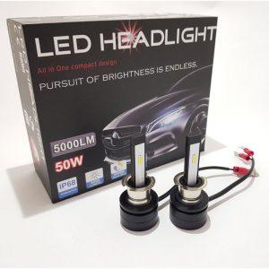 Модел: SMax H1 Комплект иновативниLED крушки за фарове H1- 5500k. (5000LM) LED крушките са с ( chip-on-board) диод от ново поколение който се охлаждат единственно и само от корпусът си Без вентилатор , съответнобез смущение на радиотона автомобилът Създават светлинен поток с над 200% по-ярка светлина, спрямо стандартните халогенни крушки и са подходящи за всички фарове с рефлектори и лупи. Изключително малка консумация на енергия 100%взаимозаменяемис вашите стари крушки Характеристики: Оптимален фокус Алуминиев радиатор за по-добро охлаждане Мощност: 25W на крушка. Oбщо за двете 50W Ъгъл на осветяване: 360°C Влагоустойчиви: IP67 Светлинен поток: 2500lm за крушка. Общо за двете 5000lm Материал: Алуминий Монтират се на стандартният цокъл Захранване на крушките:DC 9V-30V Работна температура на крушките:-45 ~ +85 °C Цвят на светлината: Бяла (5000LM) Крушките притежават сертификат: CE, RoSH Цената е закомплект от 2 броя крушки